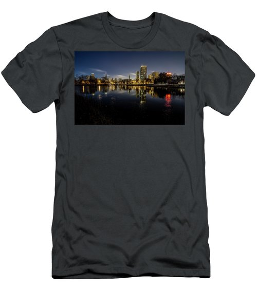 Chicago Skyline At Dawn  Men's T-Shirt (Athletic Fit)