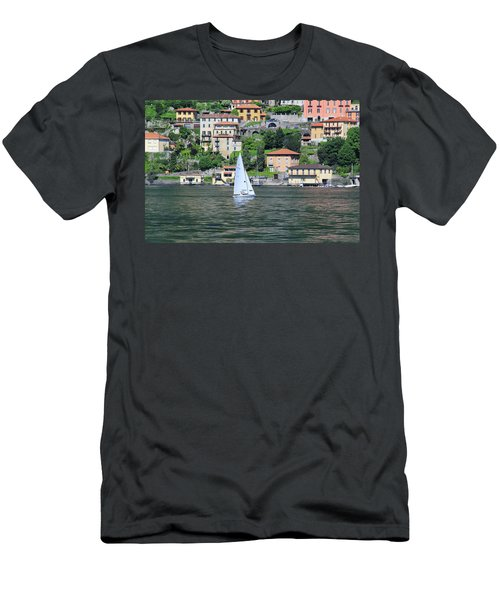 Lake Como Italy Men's T-Shirt (Athletic Fit)