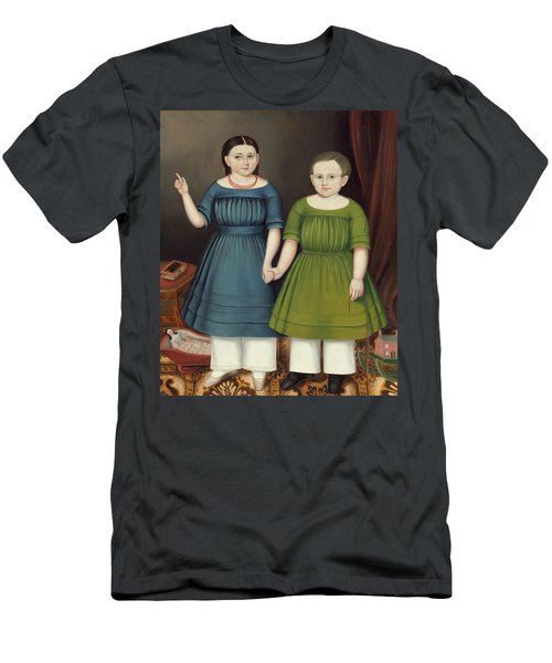 Men's T-Shirt (Athletic Fit) featuring the painting Mary And Francis Wilcox by Joseph Whiting Stock