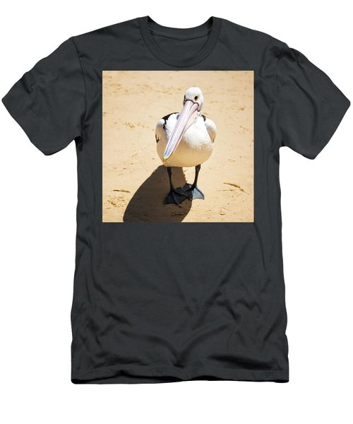 Men's T-Shirt (Athletic Fit) featuring the photograph Pelican During The Day by Rob D Imagery