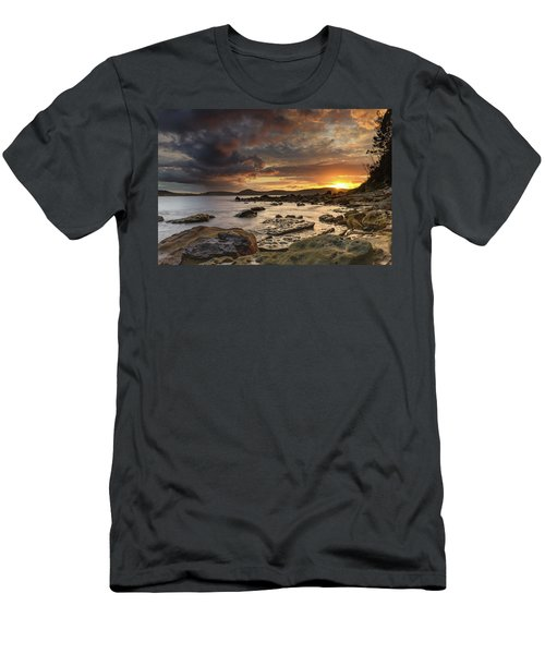 Stormy Sunrise Seascape Men's T-Shirt (Athletic Fit)