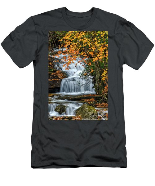 Waterfall And Fall Color Men's T-Shirt (Athletic Fit)