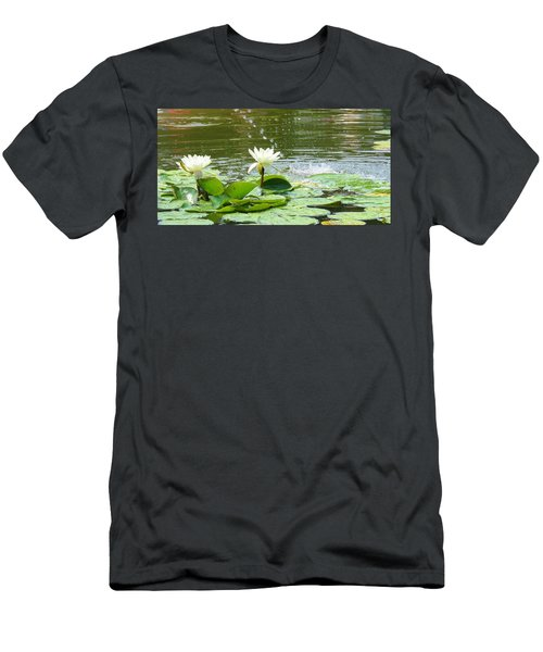 2 White Water Lilies Men's T-Shirt (Athletic Fit)