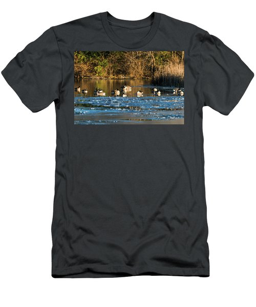Men's T-Shirt (Athletic Fit) featuring the photograph Winter Begins by Edward Peterson