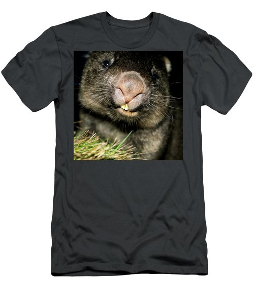 Men's T-Shirt (Athletic Fit) featuring the photograph Wombat At Night by Rob D Imagery