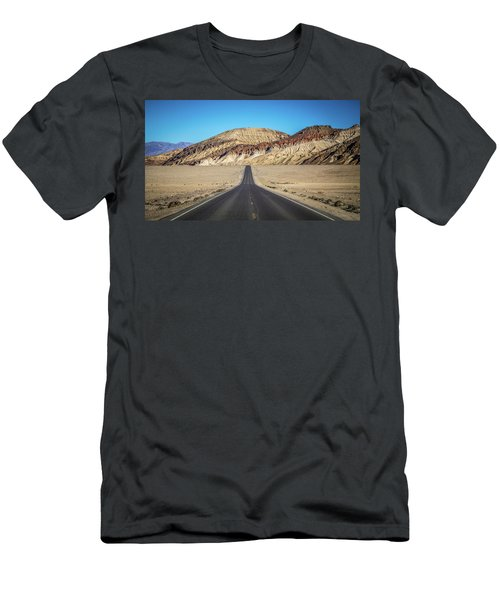 Men's T-Shirt (Athletic Fit) featuring the photograph Lonely Road In Death Valley National Park In California by Alex Grichenko
