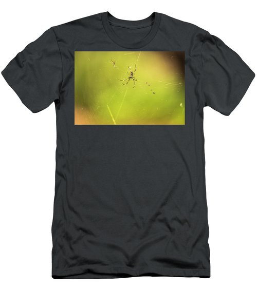 Men's T-Shirt (Athletic Fit) featuring the photograph Golden Orb Spider. by Rob D Imagery
