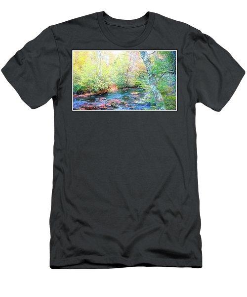Pocono Mountain Stream, Pennsylvania Men's T-Shirt (Athletic Fit)