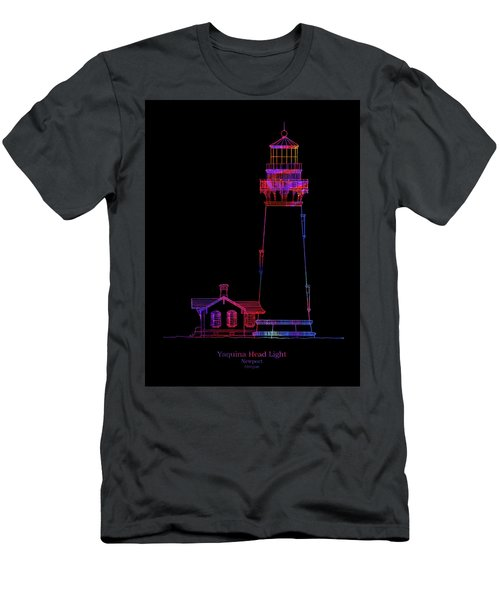 Yaquina Head Lighthouse - Oregon - Blueprint Drawing Men's T-Shirt (Athletic Fit)