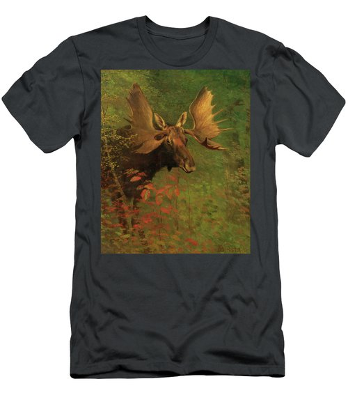 Study Of A Moose Men's T-Shirt (Athletic Fit)