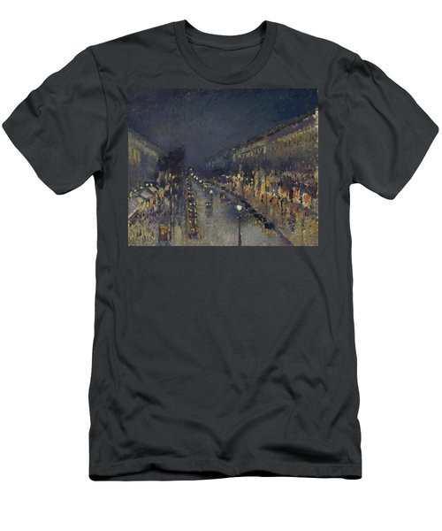 The Boulevard Montmartre At Night Men's T-Shirt (Athletic Fit)