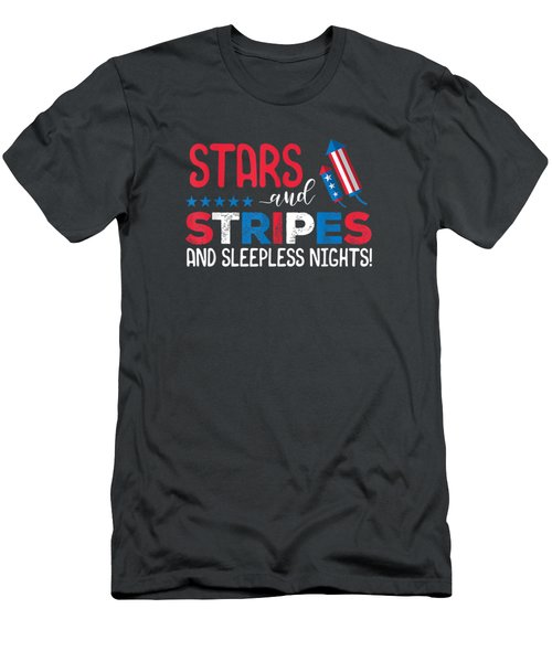 4th Of July Baby Announcement Stars And Stripes Firecracker T-shirt Men's T-Shirt (Athletic Fit)