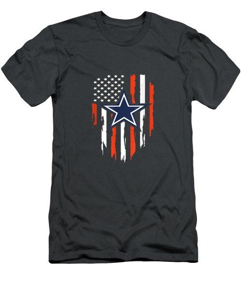 4th Of July Cowboy Flag Football Dallas Fans Tshirt Gift Men's T-Shirt (Athletic Fit)