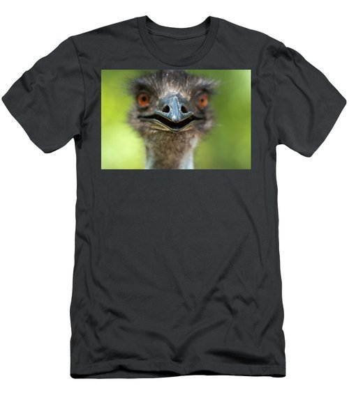 Men's T-Shirt (Athletic Fit) featuring the photograph Australian Emu Outdoors by Rob D Imagery