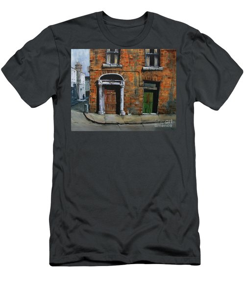 Men's T-Shirt (Athletic Fit) featuring the painting 775 Decaying Elegance In The Liberties, Dublin by Val Byrne