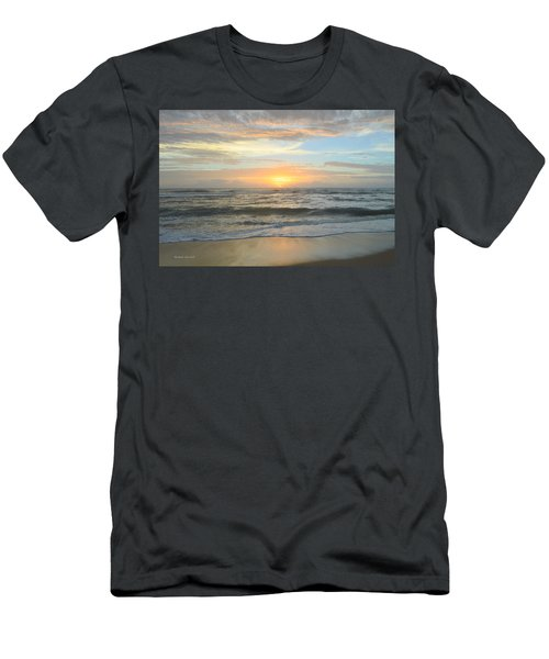Men's T-Shirt (Athletic Fit) featuring the photograph 9/17/18 Obx Sunrise  by Barbara Ann Bell