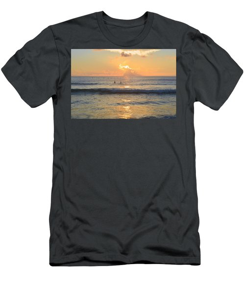 Men's T-Shirt (Athletic Fit) featuring the photograph 9/3/18 Kitty Hawk Sunrise by Barbara Ann Bell