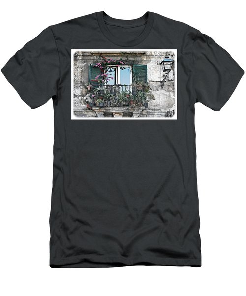 A Balcony In Palermo Men's T-Shirt (Athletic Fit)