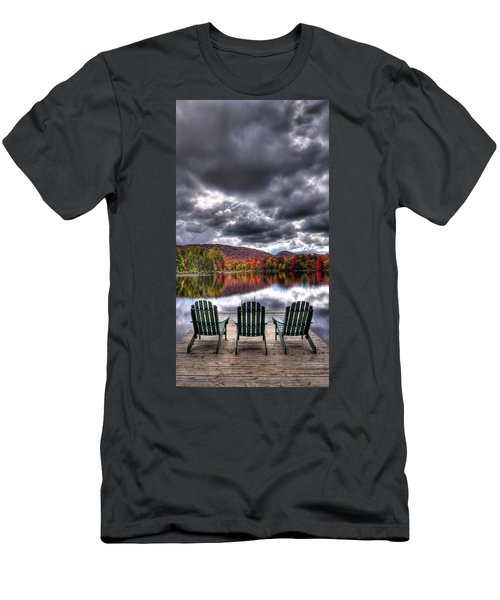 Men's T-Shirt (Athletic Fit) featuring the photograph A Fall Day On West Lake by David Patterson
