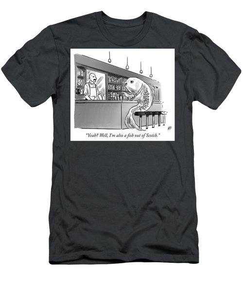 A Fish Out Of Scotch Men's T-Shirt (Athletic Fit)