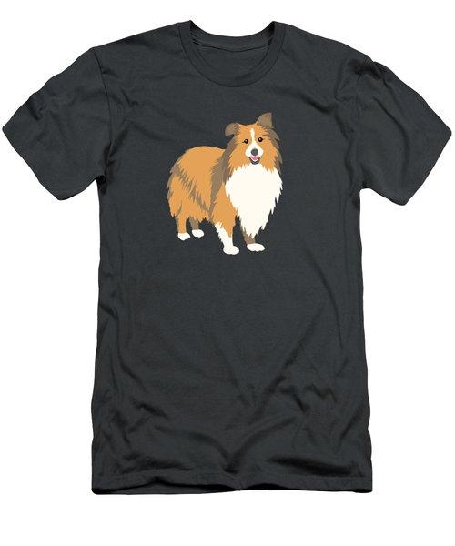 A Happy Home Has A Sheltie A Shetland Sheepdog Men's T-Shirt (Athletic Fit)
