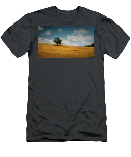 Men's T-Shirt (Athletic Fit) featuring the photograph A Machias Hillside by Guy Whiteley