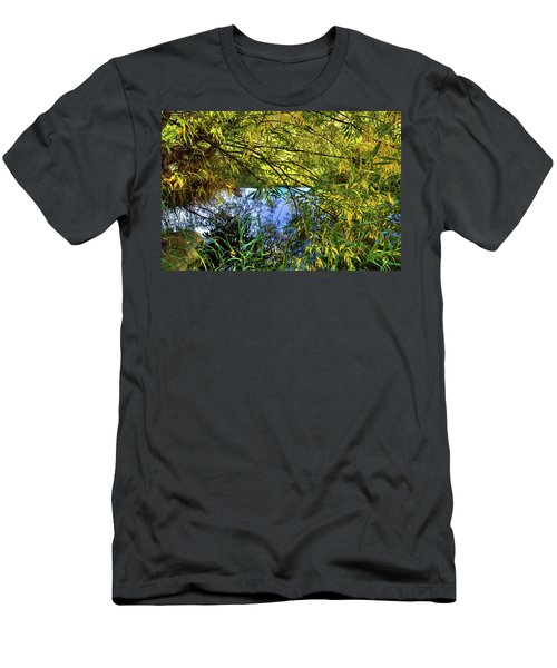 Men's T-Shirt (Athletic Fit) featuring the photograph A Peek At The River by David Patterson