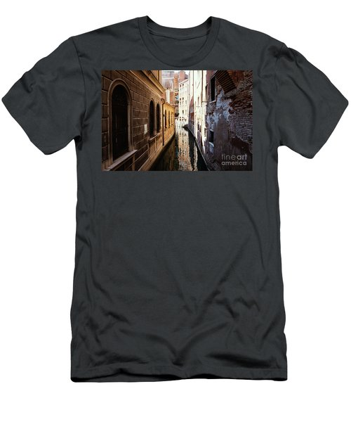 A Shadow In The Venetian Noon Narrow Canal Men's T-Shirt (Athletic Fit)