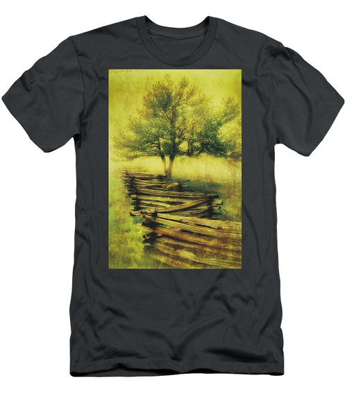 A Shady Tree On A Foggy Day Fx Men's T-Shirt (Athletic Fit)