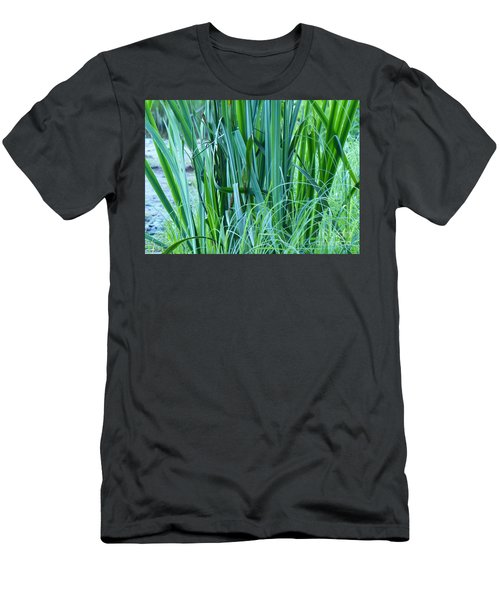 Men's T-Shirt (Athletic Fit) featuring the photograph A Shock Of Green by Rosanne Licciardi