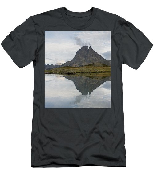 Men's T-Shirt (Athletic Fit) featuring the photograph A Still Evening At Lac Du Miey by Stephen Taylor