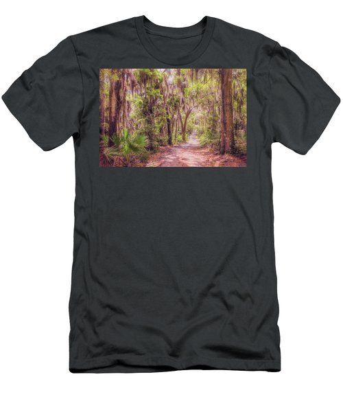 Men's T-Shirt (Athletic Fit) featuring the photograph A Trail Into Time by John M Bailey