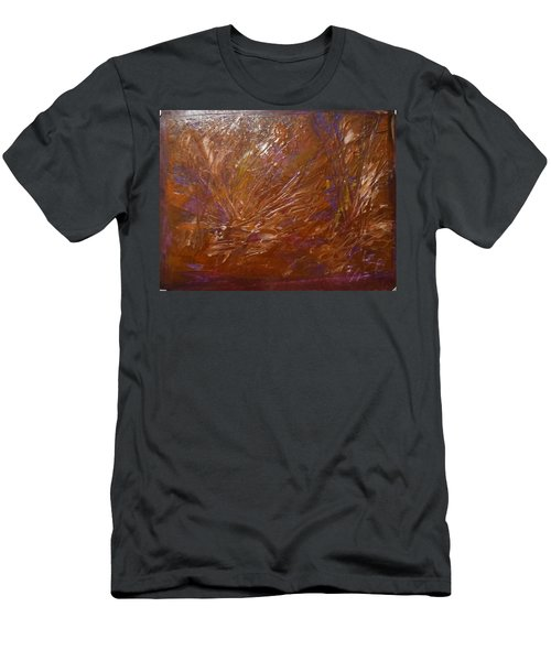Abstract Brown Feathers Men's T-Shirt (Athletic Fit)