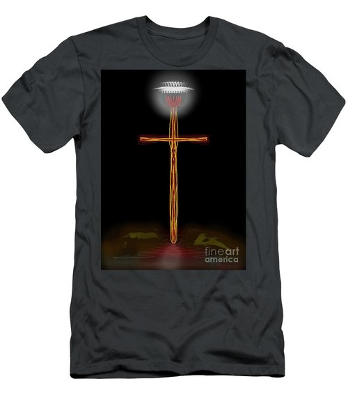 Abstract Cross With Halo Men's T-Shirt (Athletic Fit)