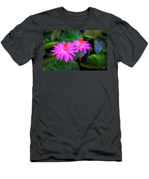 Abstracted Water Lilies Men's T-Shirt (Athletic Fit)