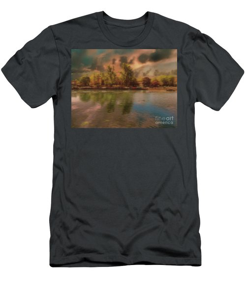 Men's T-Shirt (Athletic Fit) featuring the photograph Across The Water by Leigh Kemp