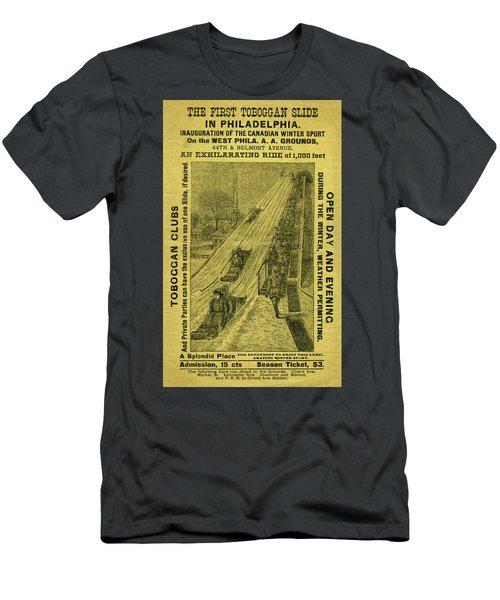 Advertisement For The First Toboggan Slide In Philadelphia Men's T-Shirt (Athletic Fit)