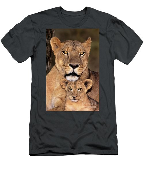 African Lions Parenthood Wildlife Rescue Men's T-Shirt (Athletic Fit)