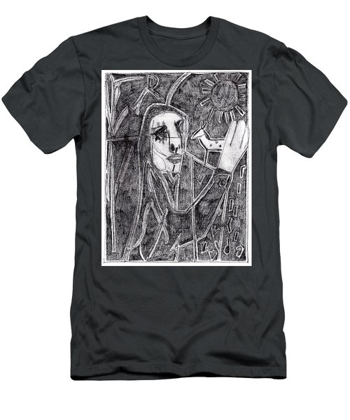 After Childish Edgeworth Pencil Drawing 10 Men's T-Shirt (Athletic Fit)