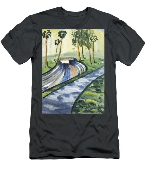 Men's T-Shirt (Athletic Fit) featuring the painting Afternoon In The Park by Maria Langgle