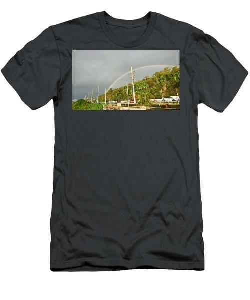 Aguadilla Rainbow Men's T-Shirt (Athletic Fit)
