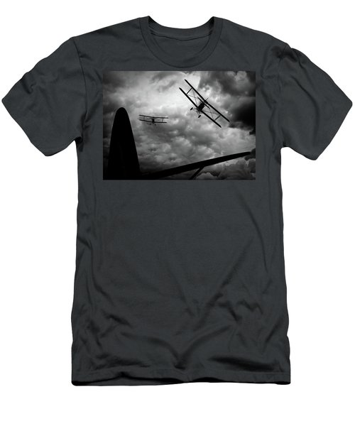 Men's T-Shirt (Athletic Fit) featuring the photograph Air Pursuit by Bob Orsillo