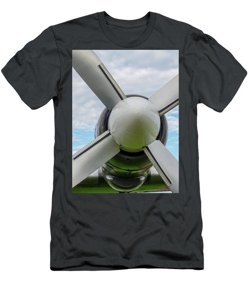 Men's T-Shirt (Athletic Fit) featuring the photograph Aircraft Propellers. by Anjo Ten Kate