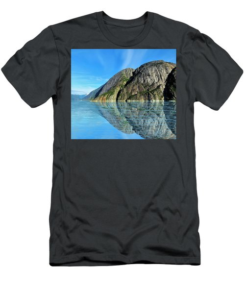 Men's T-Shirt (Athletic Fit) featuring the photograph Alaska Rock Reflection by Joan Stratton