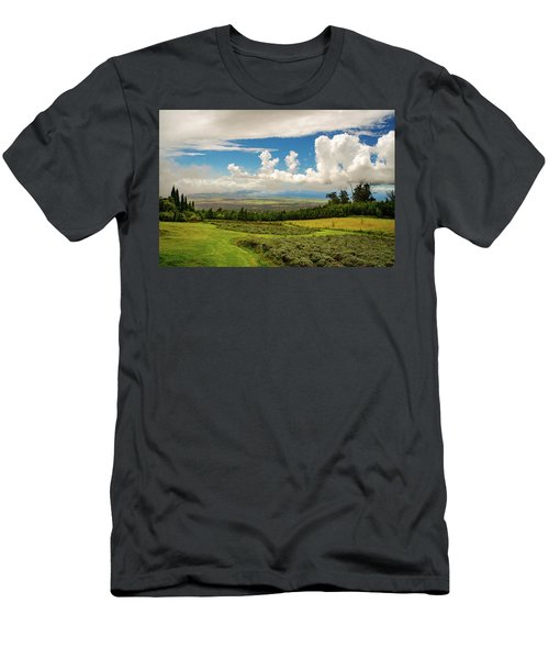 Men's T-Shirt (Athletic Fit) featuring the photograph Alii Kula Lavender Farm by Jeff Phillippi