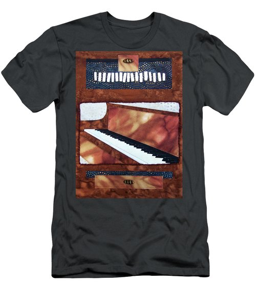 All That Jazz Piano Men's T-Shirt (Athletic Fit)