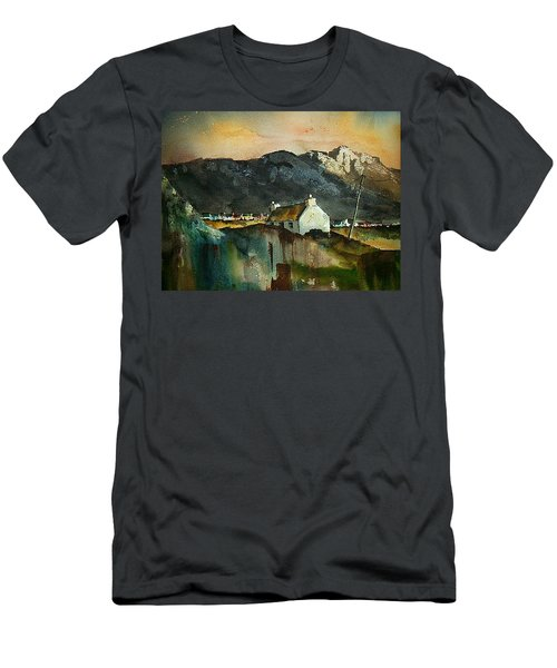 Men's T-Shirt (Athletic Fit) featuring the painting Allihies Sunset, Beara Peninsula, Co. Cork by Val Byrne