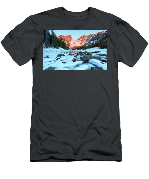 Alpenglow At Dream Lake Rocky Mountain National Park Men's T-Shirt (Athletic Fit)