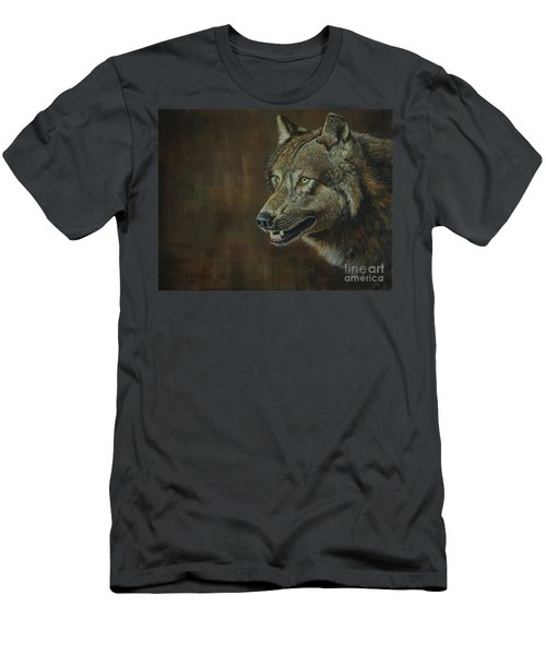 Alpha Male ......the Gray Wolf Men's T-Shirt (Athletic Fit)