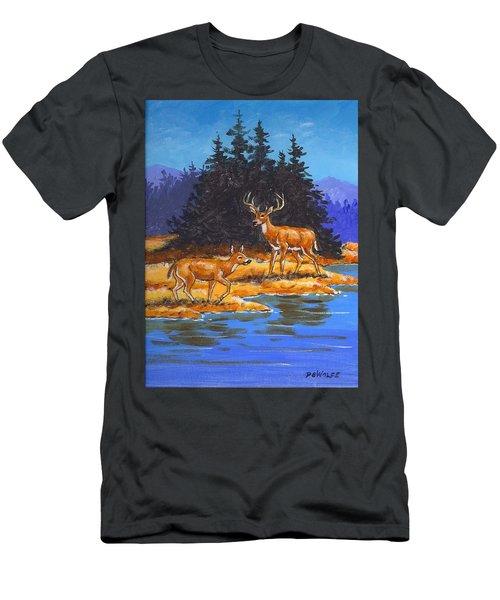 Alpine Refuge Sketch Men's T-Shirt (Athletic Fit)